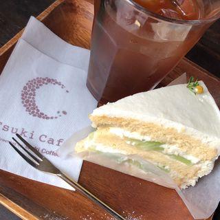 ショートケーキ(Tsuki Cafe )