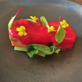 赤富士サーモンと旬野菜のグリル
