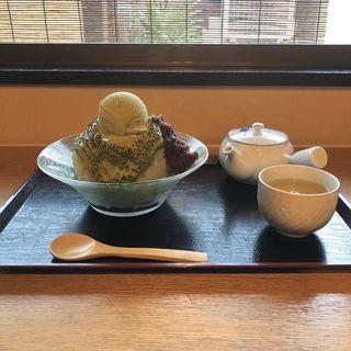 抹茶 かき氷(祇園きなな 本店 (ぎおんきなな))