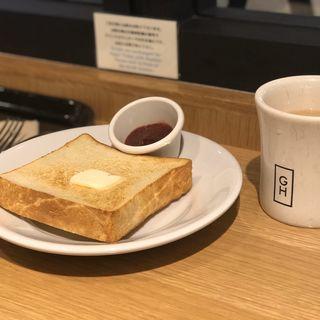 バタートーストと自家製ジャム(ガーデンハウス カフェ)