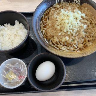 朝そば(納豆)