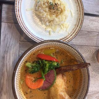 チキン(マイルドスープ辛口)(rojiura curry samurai.八王子店)