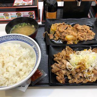 牛皿牛カルビ定食(吉野家 新4号線上三川店 )