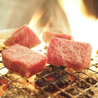 【特選国産黒毛和牛】極上霜降りヘレステーキ(200g)(炭焼水七輪焼肉匠たじま)