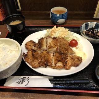 若鶏のから揚げ定食(蕾 (ツボミ))