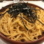 タラコとウニのスパゲッティ