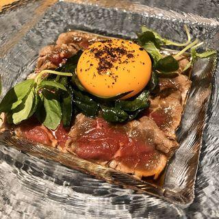 桜肉と九条ネギのすき焼き(綾小路高倉 都食堂)