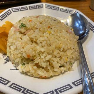ラーメン定食 ギョーザ三個+小焼飯(元祖赤のれん 節ちゃんラーメン 天神本店 )