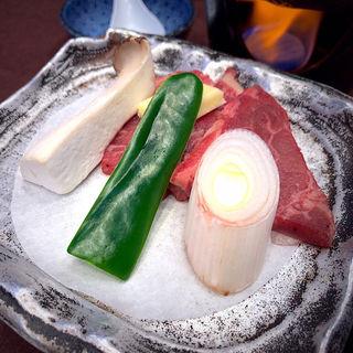 牛肉と野菜の陶板焼(ホテルニュー水戸屋 )