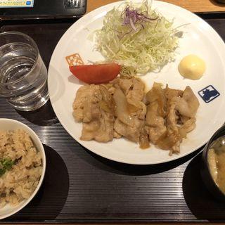 豚の生姜焼き定食(寅福 ルミネ新宿店 )