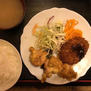 メンチカツ&唐揚げ定食(さん喜 (さんき))