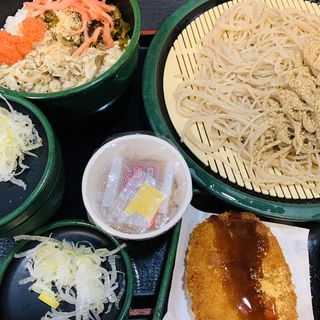 ミニ焼鯖明太ごはんセット(ゆで太郎 本所吾妻橋店  )
