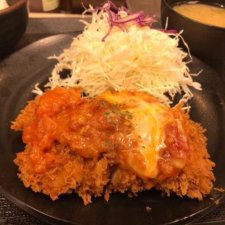 チーズトマトささみかつ定食(松乃家 仙台中央店 )