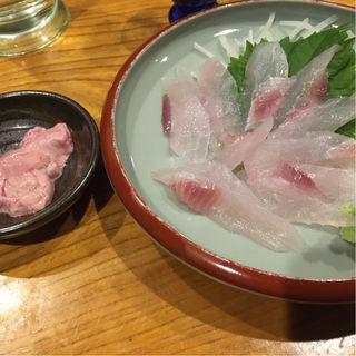 カワハギ刺身(飲喰屋 こけこっこう )