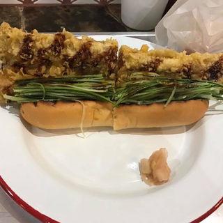 活け〆煮穴子の天ぷらドッグ
