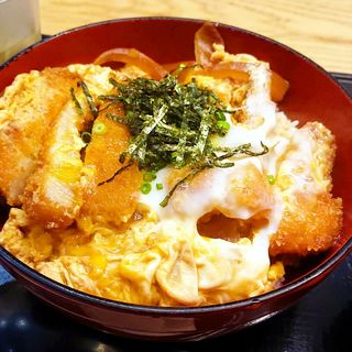 糸島豚のロースカツ丼(ぬる燗ぞっこん 離れ)