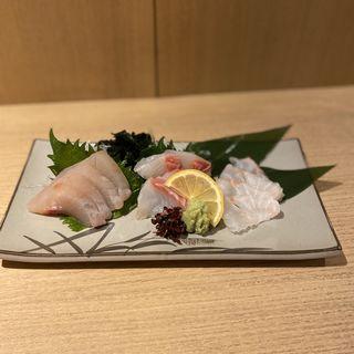 地魚お造り三種盛り合わせ(九州屋 頂)