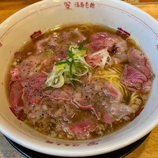 神戸牛炙り油カスの醤油そば(福島壱麺 (イチメン))