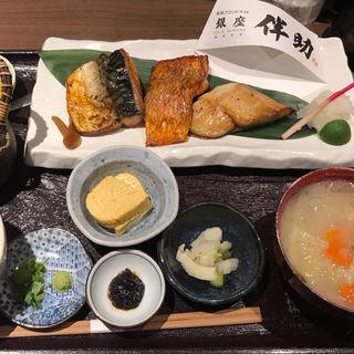 彩り3種干物定食