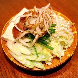 すき焼き 野菜盛り合わせ