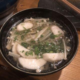 キノコの鷄スープ