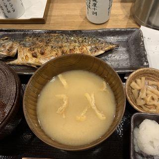 さば文化干定食(しんぱち食堂 蒲田西口はなれ)
