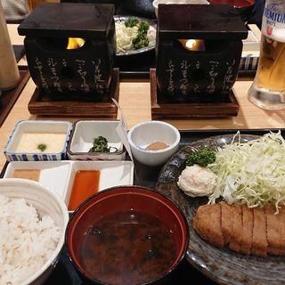 牛かつ130g 麦飯 明太子とろろ定食(牛かつ もと村 横浜ジョイナス店)