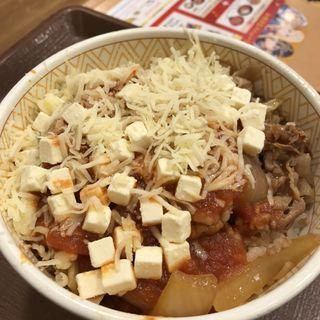 クリームチーズアラビアータ牛丼(すき家 セントラルパーク店 )