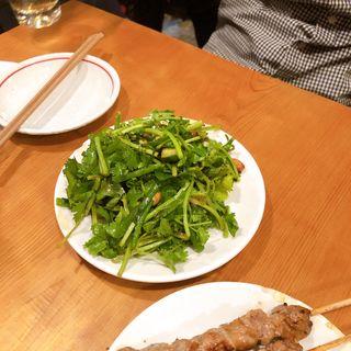 発酵野菜の香味炒め(羊香味坊)