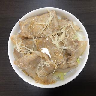 生姜焼き丼 みそ味(加藤ラーメン やまと)