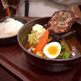 赤豚ハンバーグ&野菜