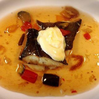 カレイのソテー 焼き野菜&アイオリソース(ビストログランビア )