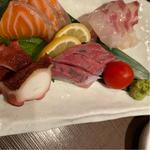 地鮮魚刺身4種盛り合わせ