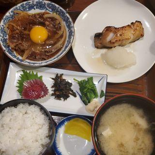 銀ダラ定食(郷土料理 こふじ )