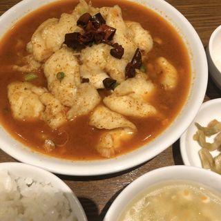 豆腐入り四川風魚の麻辣煮込み