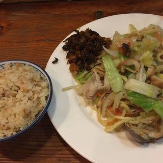 皿うどんセット(かしわごはん)(ぴかいち)