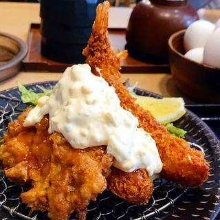 チキン南蛮&海老フライ定食
