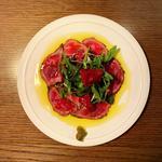数量限定 和牛のカルパッチョと自家製柚子胡椒