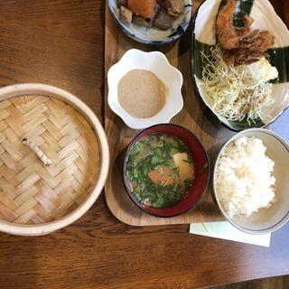 海老フライと野菜のせいろ蒸し