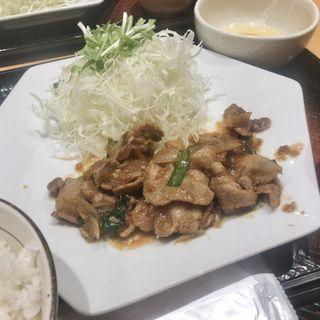 四元豚の生姜焼き定食(大戸屋 御徒町南口店 )