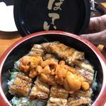 鰻丼雲丹載せ(寿司割烹 みやもと)
