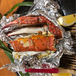 渡り蟹のホイル蒸し(寿司割烹 みやもと)