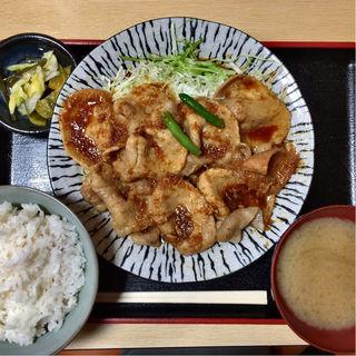 生姜焼き定食(祭 (まつり))