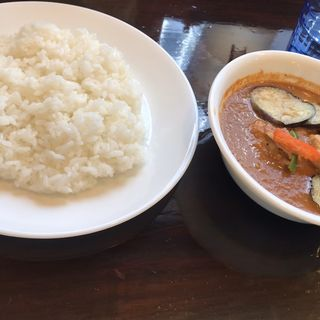 なすトマトチキンカレー(curry草枕)