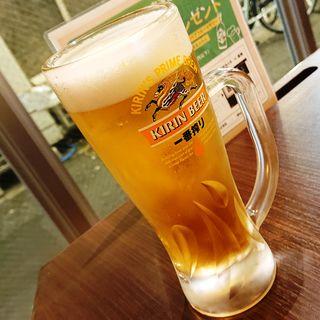 生ビール(中ジョッキ)(やきとり家 すみれ 川崎店)