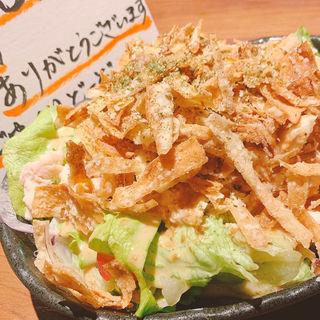 蒸し鶏とパリパリゴボウのサラダ(わすれん棒 赤羽一番街店 )