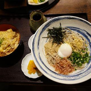 ぶっかけそば(冷)+ミニ親子丼(博多 大福)