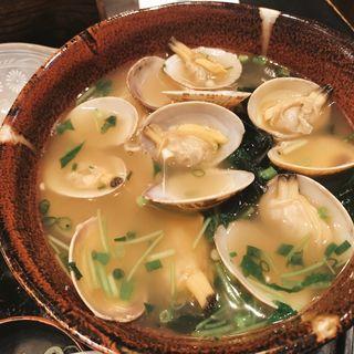 アサリ中華麺(長生庵)