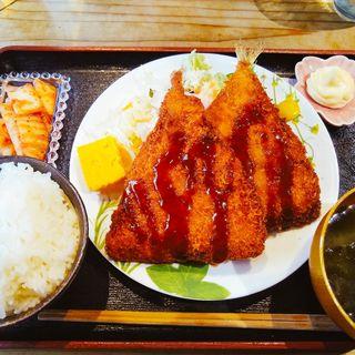 アジフライ定食(串揚げぴん )