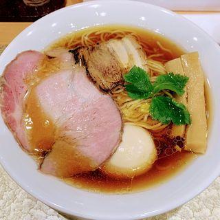 地鶏醤油らーめん(味玉付)(なにわ麺次郎)